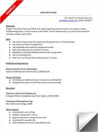 maintenance technician resume maintenance technician resume sle resume exles