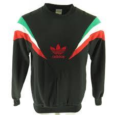 adidas sweater vintage 80s adidas trefoil sweatshirt mens l deadstock flock print