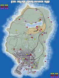 Los Angeles Gang Map Google by Gta Online Gang Attack Locations Gamingreality