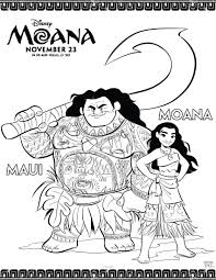 disney u0027s moana coloring pages mommy scene