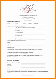 Charitable Contribution Receipt Template 11 Tax Deductible Receipt Resume Sections