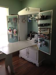 Harbor View Craft Armoire Tv Armoire Turned Into A Sewing Cabinet With Fold Up Table