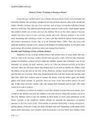 house and home essay mom working or staying at home 1500 word essay day care