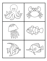 under the sea color the sea creatures under the sea worksheets
