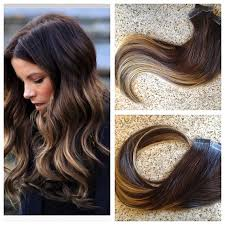 ombre extensions in remy extensions 4 24 20 pieces