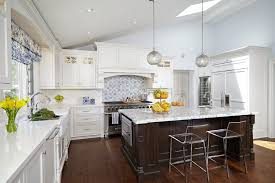 Transitional White Kitchen - pental for a traditional kitchen with a kitchen island pendants