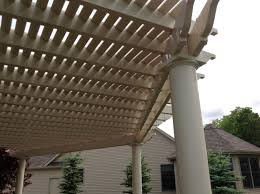 Pergola With Fabric by A Shade Pergola Transforms This Space From Uncomfortable To