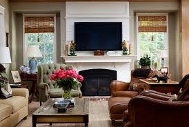 Corner Gas Fireplace With Tv Above by Tv Above Fireplace Design Ideas