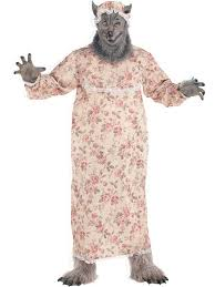 Granny Halloween Costumes Adults Granny Grandma Big Bad Wolf Fancy Dress Costume Halloween