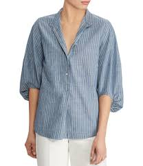 chambray blouse chambray s casual dressy tops blouses dillards com