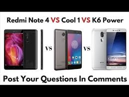 comparison review redmi note 4 vs cool 1 dual vs lenovo k6 power
