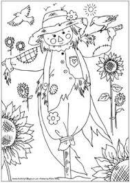 scarecrow colouring dyi scarecrows
