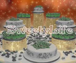 wedding cake holder 7pcs set wedding transparent cake holder cheap