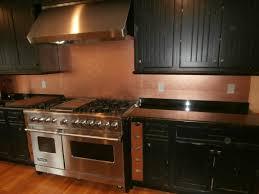 kitchen u0026 dining metal frenzy in kitchen copper backsplash ideas