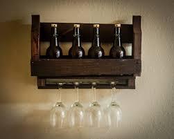 Single Wine Bottle Holder by Wall Mounted Wine Glass Rack Plans Best Ideas Of Wine