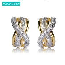 s earrings mechosen new arrival gold color letter s shape stud earrings for