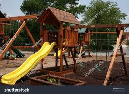 backyard kids playground stock photo 1646931 shutterstock