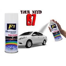 Spray Paint White - f1 aerosol spray paint white for multipurpose car bike cycle etc