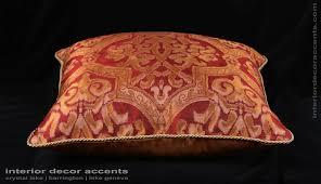 Large Home Decor Accents Lee Jofa Silk Damask Kravet Velvet Large Single Decorative Pillow