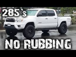 best tires for toyota tacoma running 285 33 s tires without on a toyota tacoma