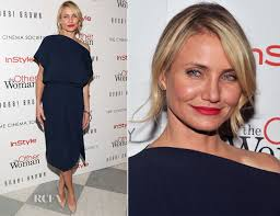 cameron diaz hair cut inthe other woman cameron diaz in vionnet the other woman new york screening