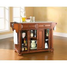 wood top kitchen island alexandria granite top kitchen island wood cherry crosley target
