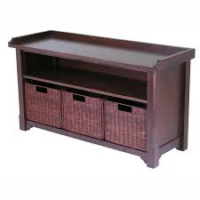 Bedroom Storage Bench Decorating Entryway Storage Bench With Coat Rack In Brown For