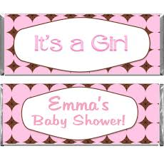 baby shower custom candy bar wrappers at candy bar wraps