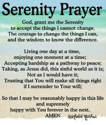 Serenity Prayer Meme - serenity prayer god grant me the serenity to accept the things i