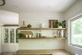 floating kitchen shelves with lights how to install heavy duty floating shelves for the kitchen floating