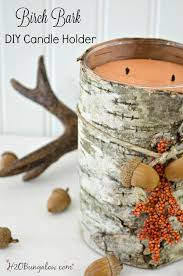 diy birch bark candle holder h20bungalow