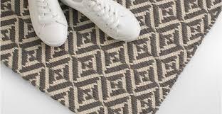 Flat Weave Runner Rugs Grey Runner Hallway Rug Wool Flatweave Geometric 66 X 200cm Mira