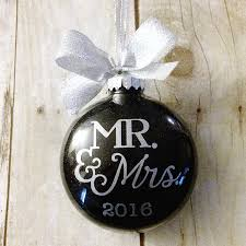 personalized wedding ornament our christmas as mr and mrs ornament newlywed