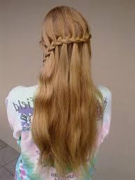 waterfall braid teenage hairstyles for teen http