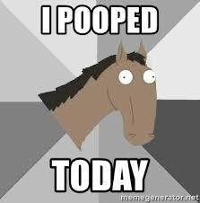 I Pooped Today Meme - i pooped today retard horse meme generator