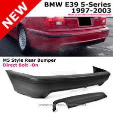 bmw e39 rear bmw 5 series e39 97 03 m5 style pp rear bumper cover diffuser