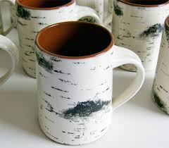Tree Mug Birch Bark Coffee Mug Looks Like A Birch Tree