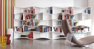 creative idea cornered white modern wood floating shelves design