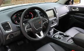 mitsubishi crossover interior 2017 dodge durango in depth model review car and driver