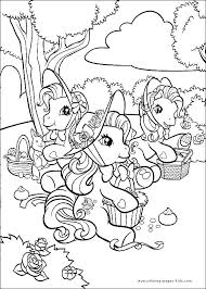 49 coloring pony images ponies