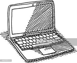 laptop computer target dart drawing vector art getty images