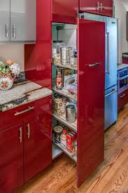 best 25 contemporary kitchen cabinets ideas on pinterest this red glossy kitchen cabinet does not only provide inspiration for paint color and finish but also for storage solutions
