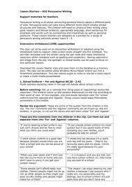 teachers tv ks2 persuasive writing by teachers tv teaching
