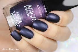swatch avon magic effects u0027matte u0027 inky blue glitterfingersss