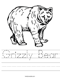 grizzly bear worksheet twisty noodle