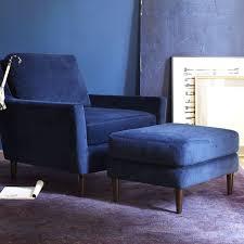 velvet chair and ottoman everett ottoman west elm
