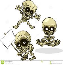 Halloween Skeletons by Vector Cartoon Halloween Undead Skeletons Royalty Free Stock