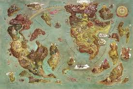 Runescape World Map by Exploring The Videogames World Map With Scribblenauts U0027 Art Director