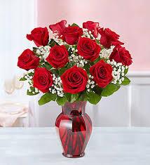 one dozen roses one dozen roses in vase nc florist flower