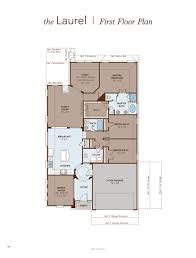 study room floor plan laurel home plan by gehan homes in fairways of champions circle